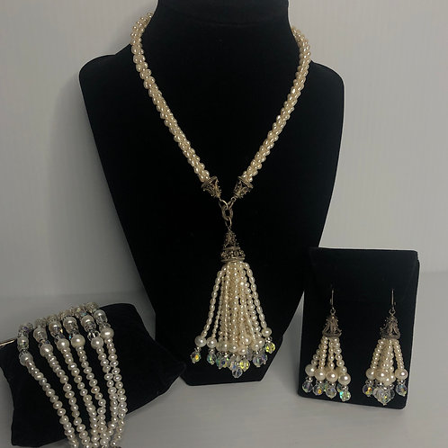 Chandalier 3 piece set - Necklace, bracelet & earrings