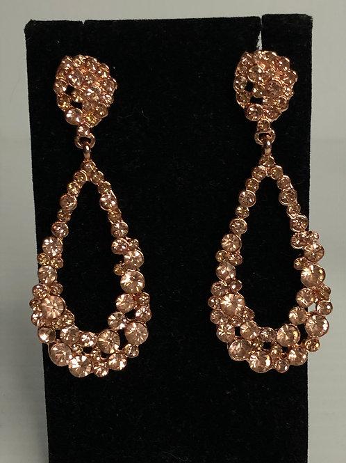 Rose gold chandelier pierced earring