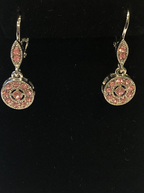 Designer look Austrian crystal lever back earring