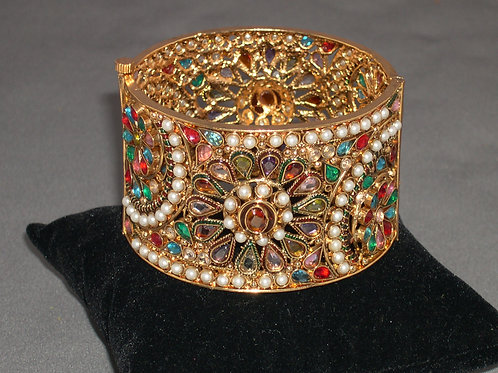 Indian bangle with semi precious gemstones