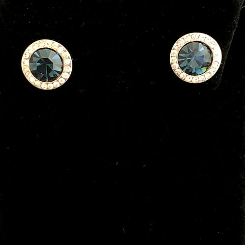 Swarovski crystal stud earrings -SAPPHIRE