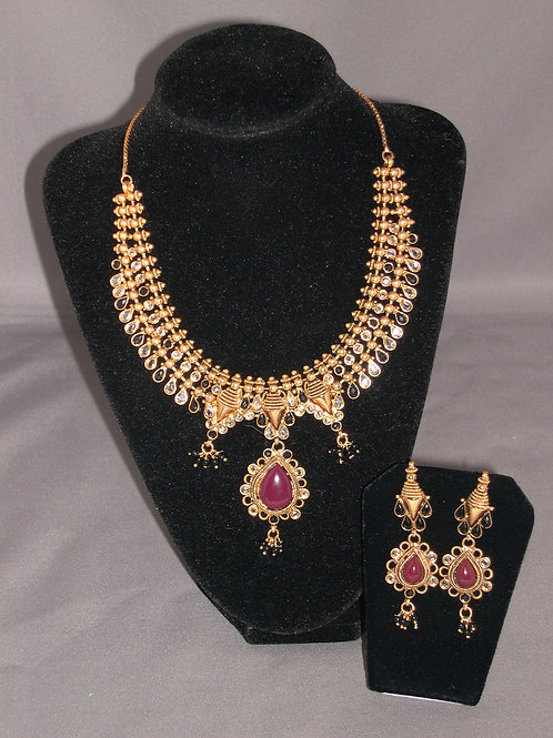 Chandelier Indian ruby set