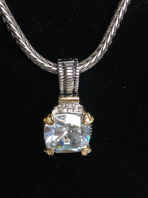 Designer lookCLEARCubic Zircondetachable pendant