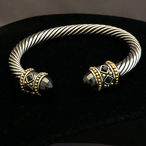 Designer cable bracelet in cubic zircon
