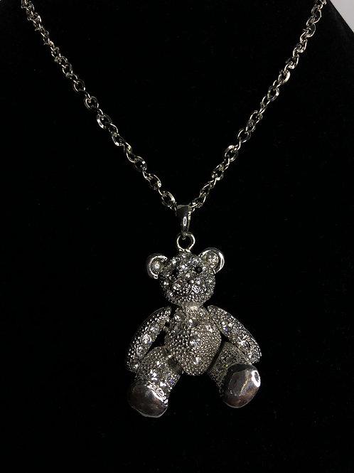 Movable legs and arms Teddy Bear on long chain