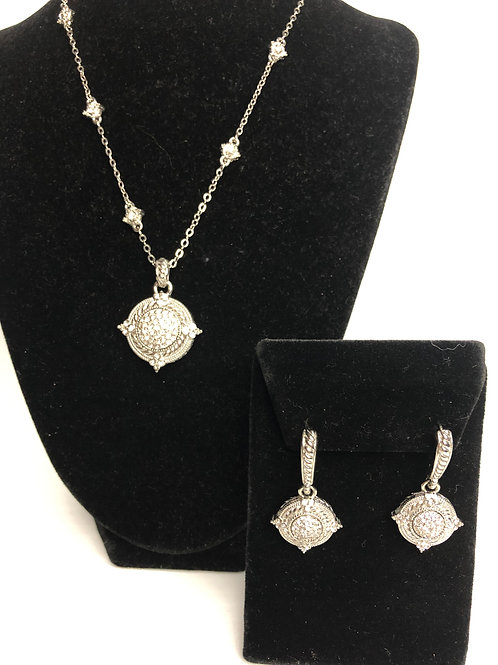 Designer Inspired diamonds by the necklace chain & earrings