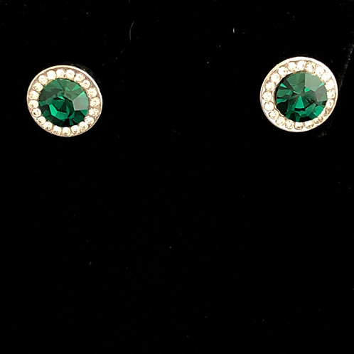Swarovski crystal stud earrings -GREEN