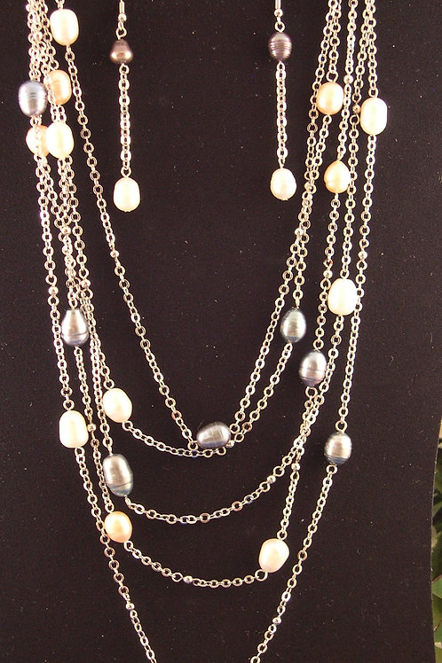 Designer look multi-colored Freshwater Cultured Pearls set