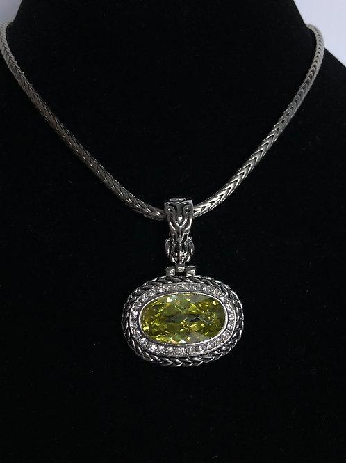 Designer  Spring Green  pendant on Magnet chain
