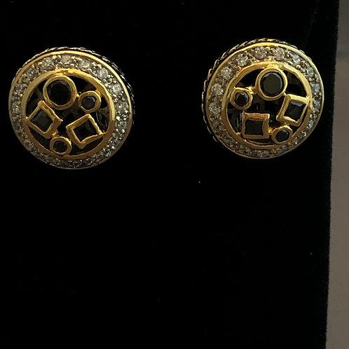 Designer BLACKCubic Zircon lever back earrings