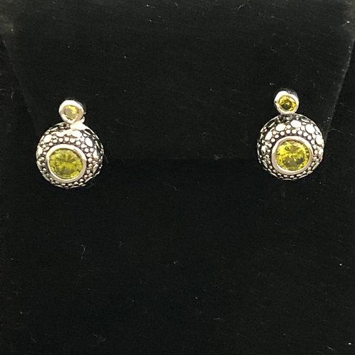 Small Swarovski crystal pierced stud earring