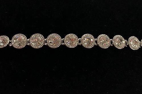 Swarovski crystal round line bracelet -CLEAR