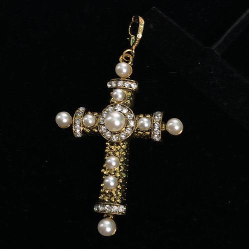 Gold decorative cross enhancer
