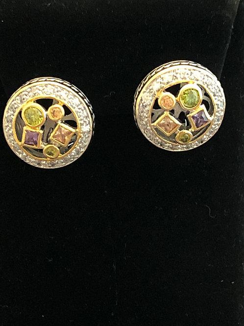 Designer MULTICubic Zircon lever back earring