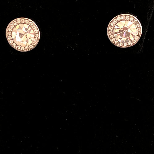 Swarovski crystal stud earrings -Clear