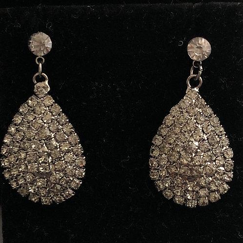Light black small drop pierced earring