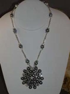Black Freshwater Cultured pearl necklace