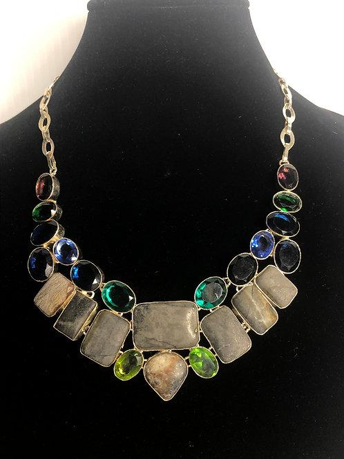 Multi natural gemstones Ocean Jasper, Chrome Diopside ETC