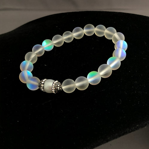 Opalite bracelet with white Freshwater Cultured pearl