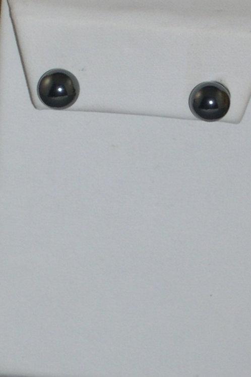 Hematite pierced studs