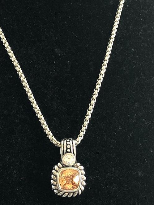 Designer CHAMPAGNE  pendant with chain