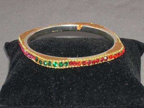 Multi color crystal bangle bracelets