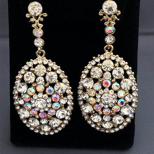 Chandelier drop earrings  in Austrian crystals