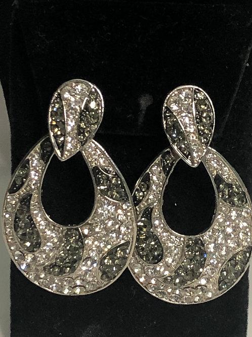 Animal print door knocker clip on earrings