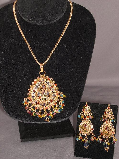 Indian chandelier set in gemstones