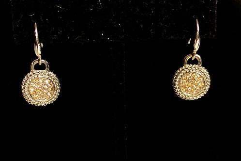 Two tone Austrian crystal drop earring