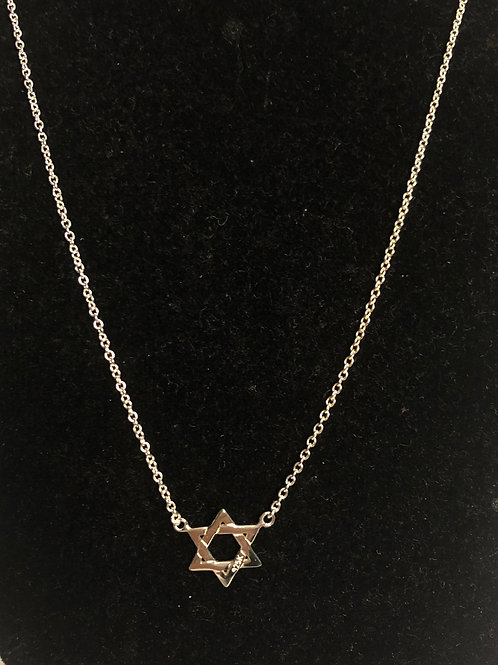 Silver Jewish star pendant