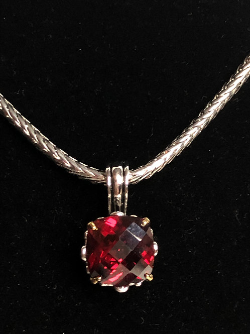 Designer look REDCubic Zircon detachable pendant