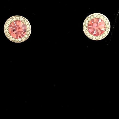 Swarovski crystal stud earrings -PINK