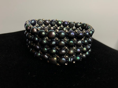 4 rows of flat FWP with stainless steel beads