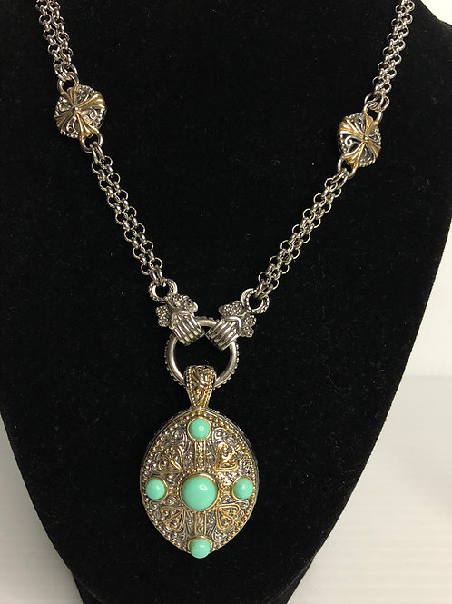 Designer Moroccan necklace with turquoise stones