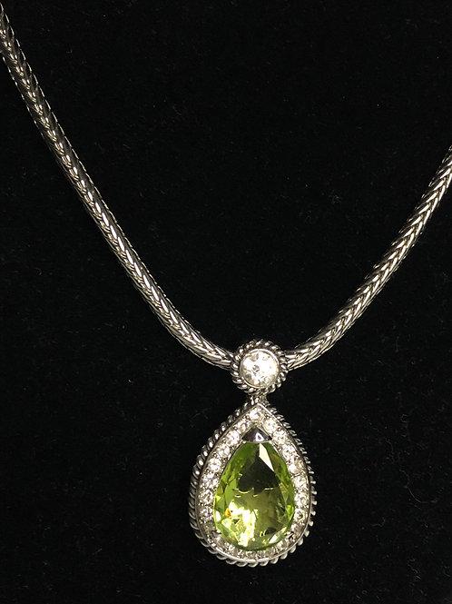 Designer Spring Green Tear Drop pendant