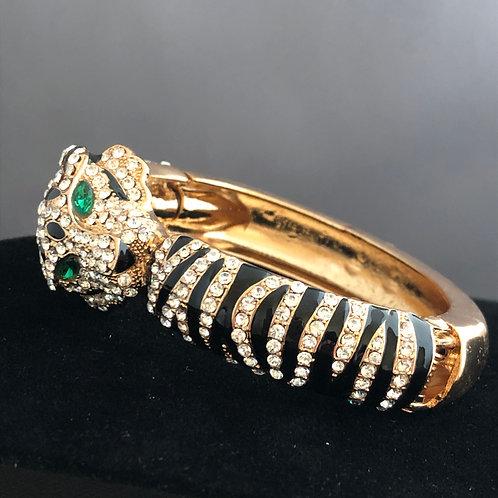 Larger designer inspired leopard hinged bracelet