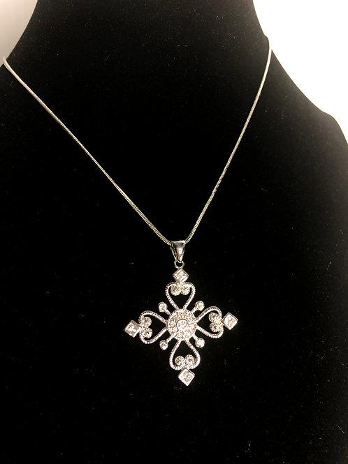Silver snowflake design in designer look