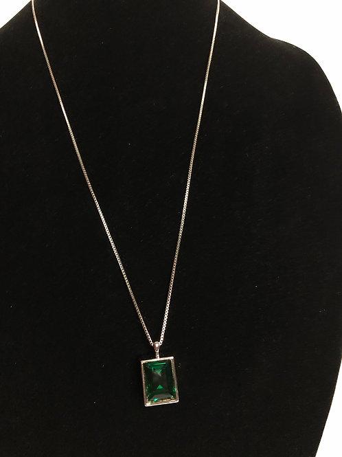 Two sided Swarovski crystal necklace