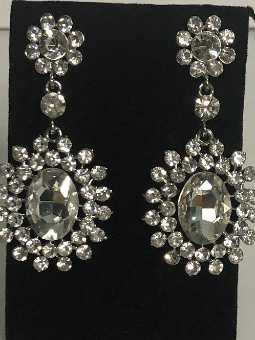 Clear crystal chandalier earring