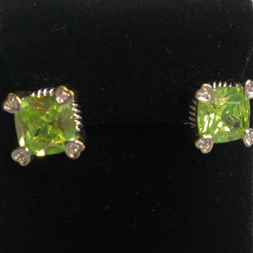 Designer PURPLECubic Zircon lever back earrings