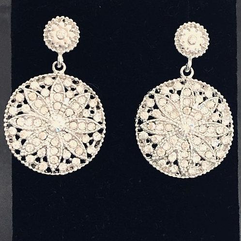 Designer look ROUND shaped pierced earrings