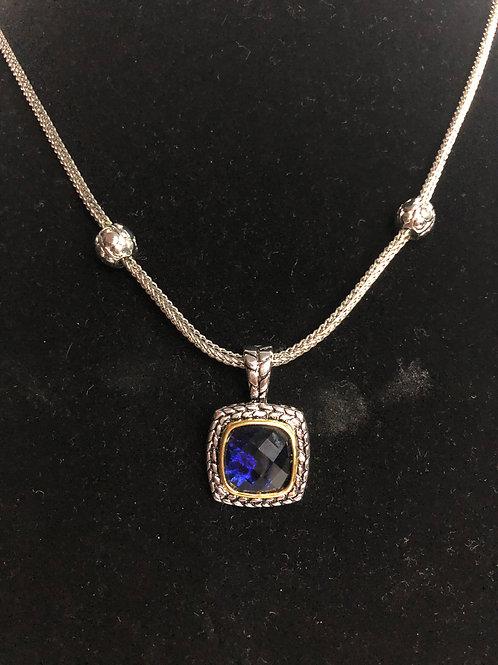 Designer look NAVY BLUECubic Zircon detachable pendant
