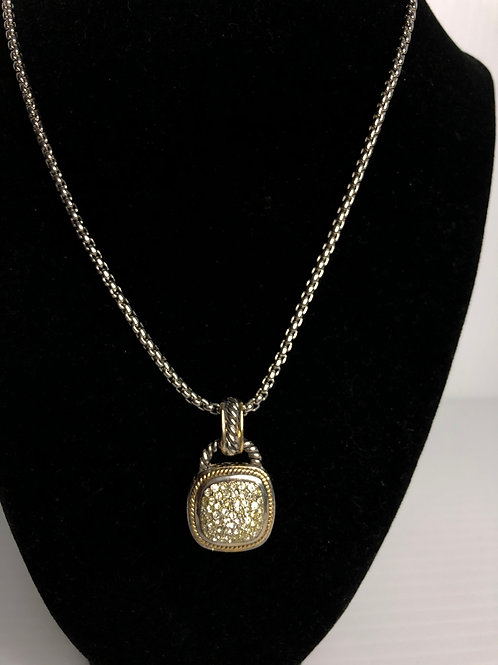 Designer look CLEARCubic Zircon pendant