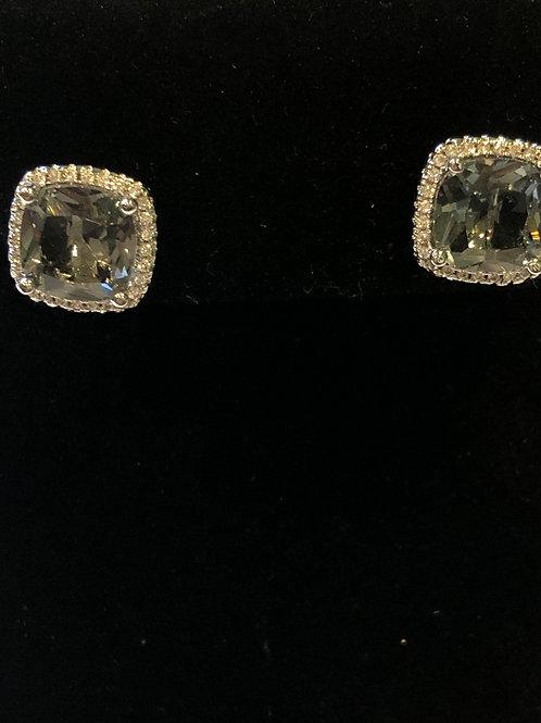 Designer look Swarovski crystal stud earring