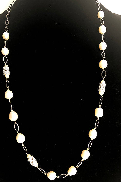 White FWP necklace in sterling silver 925