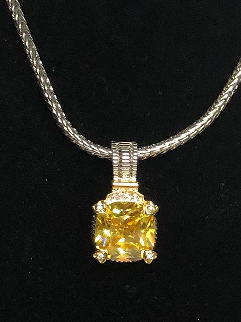 Designer lookCANARYCubic Zircondetachable pendant