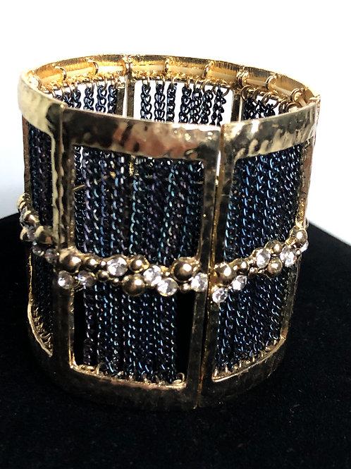 Italian design wide gold  chain bracelet