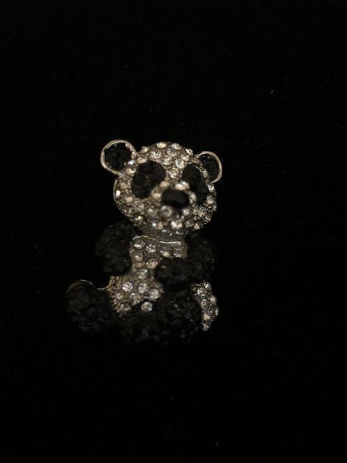 Black and white Austrian crystal Teddy bear