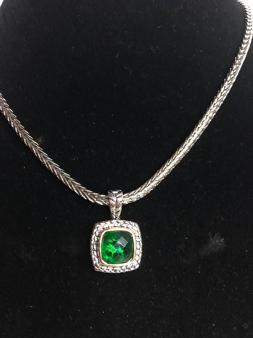Designer look GREENCubic Zircon detachable pendant